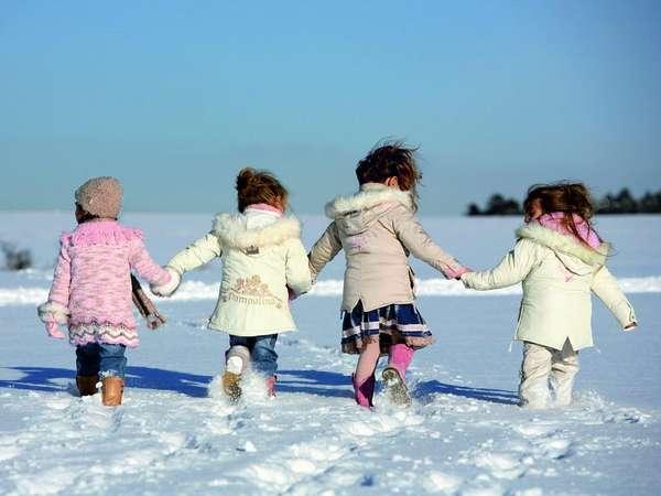 Уход за кожей ребенка зимой