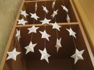 Украшаем дом к новому году. Объемные звезды.